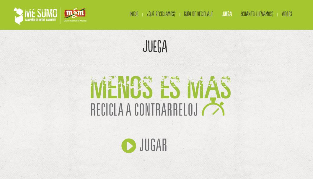 """juego online, """"Me sumo"""" un juego online para Mahou San Miguel"""