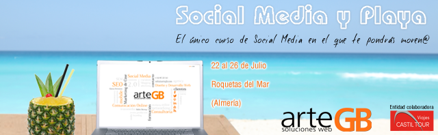 Social Media, Colaboramos junto a Viajes Castil Tour en el Curso de Social Media y Playa