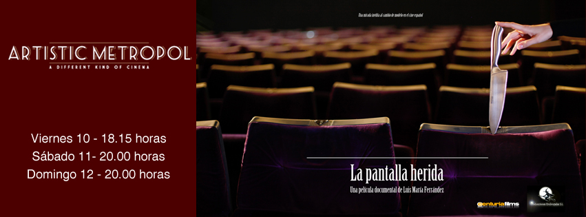 "La Pantalla herida en la sala Artistic Metropol de Madrid, ""La pantalla herida"" en la sala Artistic Metropol de Madrid"