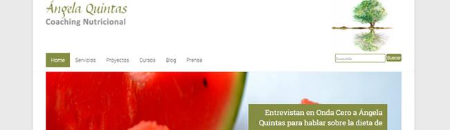 Ángela Quintas, Presentamos la nueva web de Ángela Quintas