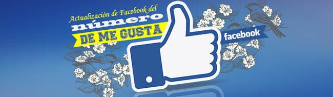 Facebook, Facebook anuncia que actualizará el número de Me gusta de las páginas