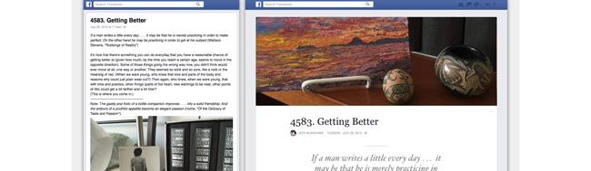 Notas, Facebook actualiza las notas con apariencia y funcionalidad de blog
