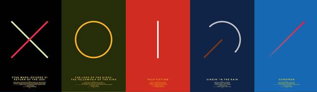 Carteles de películas, Carteles de películas rediseñados por Michal Krasnopolski