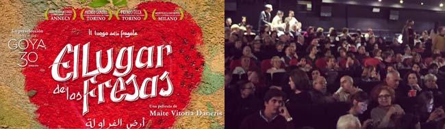 """El lugar de las fresas, Gran éxito del documental """"El lugar de las fresas"""" en su presentación en Madrid"""