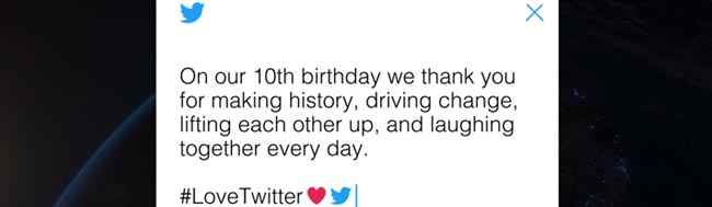 Twitter, ¡Feliz cumpleaños Twitter!