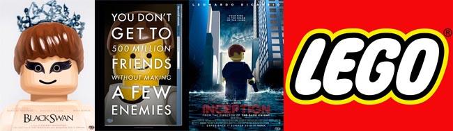 LEGO, Carteles de películas en su versión LEGO