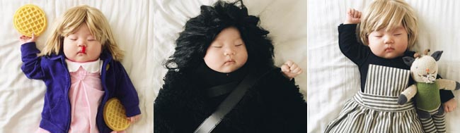 Cultura pop, El bebé al que disfrazan de personajes de la cultura pop
