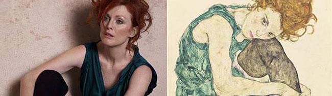 Julianne Moore, Julianne Moore recrea obras de arte de la mano de Peter Lindbergh