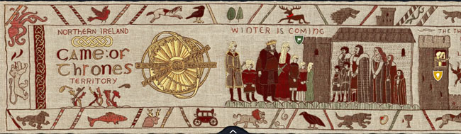 Juego de Tronos, La chuleta – tapiz de la serie Juego de Tronos