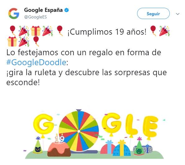 Google, 19 años de la fortuna de Google