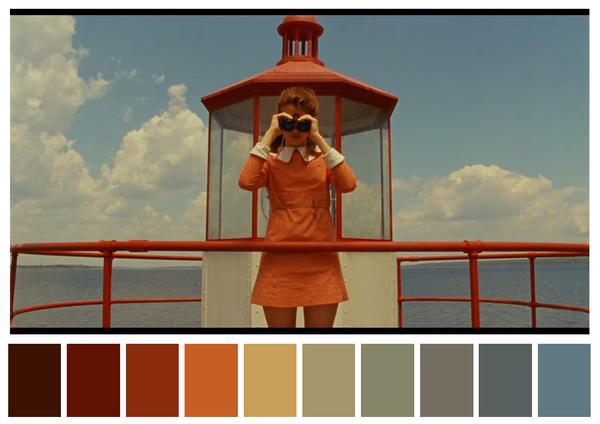 películas, La paleta de colores de las películas