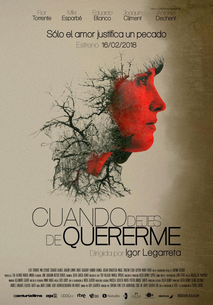Cuando dejes de quererme, Cuando dejes de quererme, de Igor Legarreta, estreno en cines el 16 de febrero