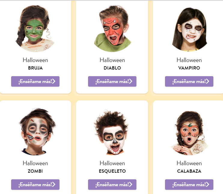 Snazaroo, Las múltiples posibilidades de las pinturas de Snazaroo para Halloween
