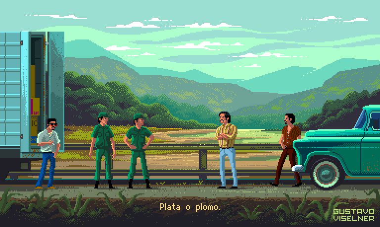 Gustavo Viselner Y Las Series En Pixel Art Marketing De Cine