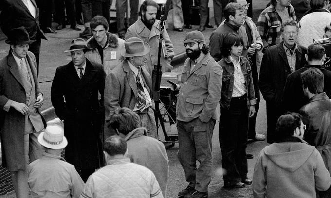 Rodaje con Brando y Coppola.