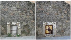 Intervención artística de Elena Parlange en Fresnedillas