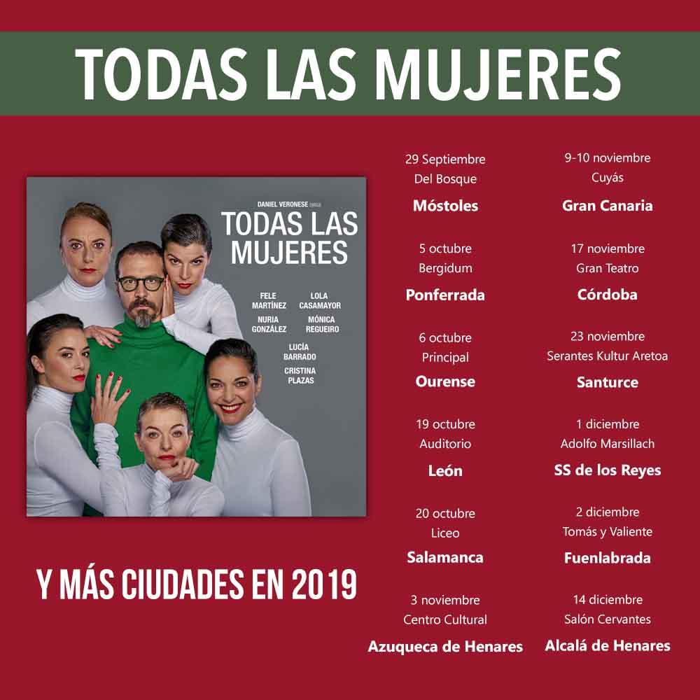 TODAS LAS MUJERES, Comienza la gira de TODAS LAS MUJERES por España ¡Atento a las fechas!