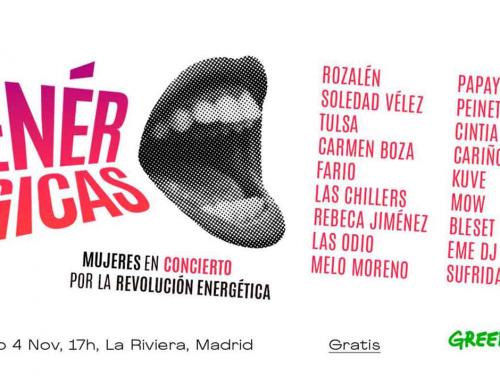 Enérgicas, un concierto de mujeres por la revolución energética