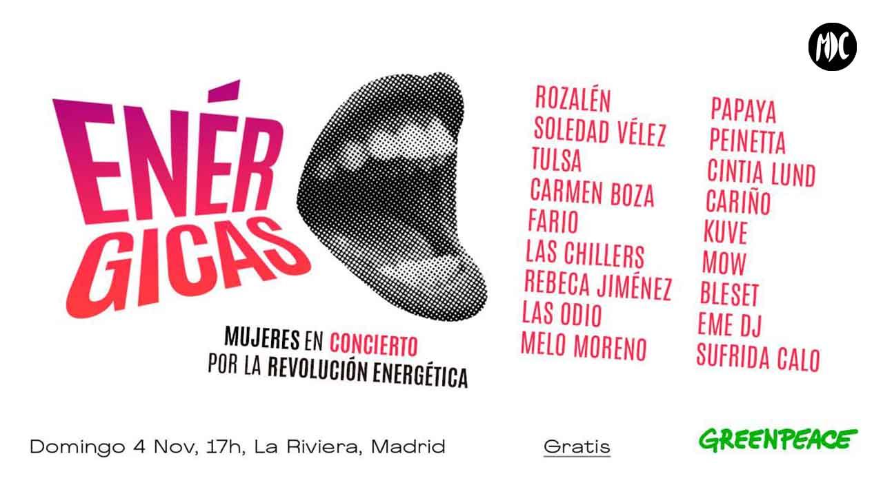 Enérgicas, Enérgicas, un concierto de mujeres por la revolución energética