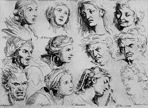 Pasiones humanas por Charles Le Brun