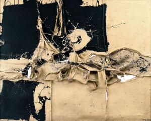 arte, Las pinturas negras de Manolo Millares
