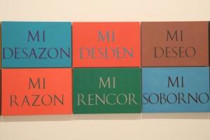palabras, La palabra que provoca en las paredes de un museo