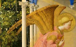 Detalle del ángel en La Anunciación