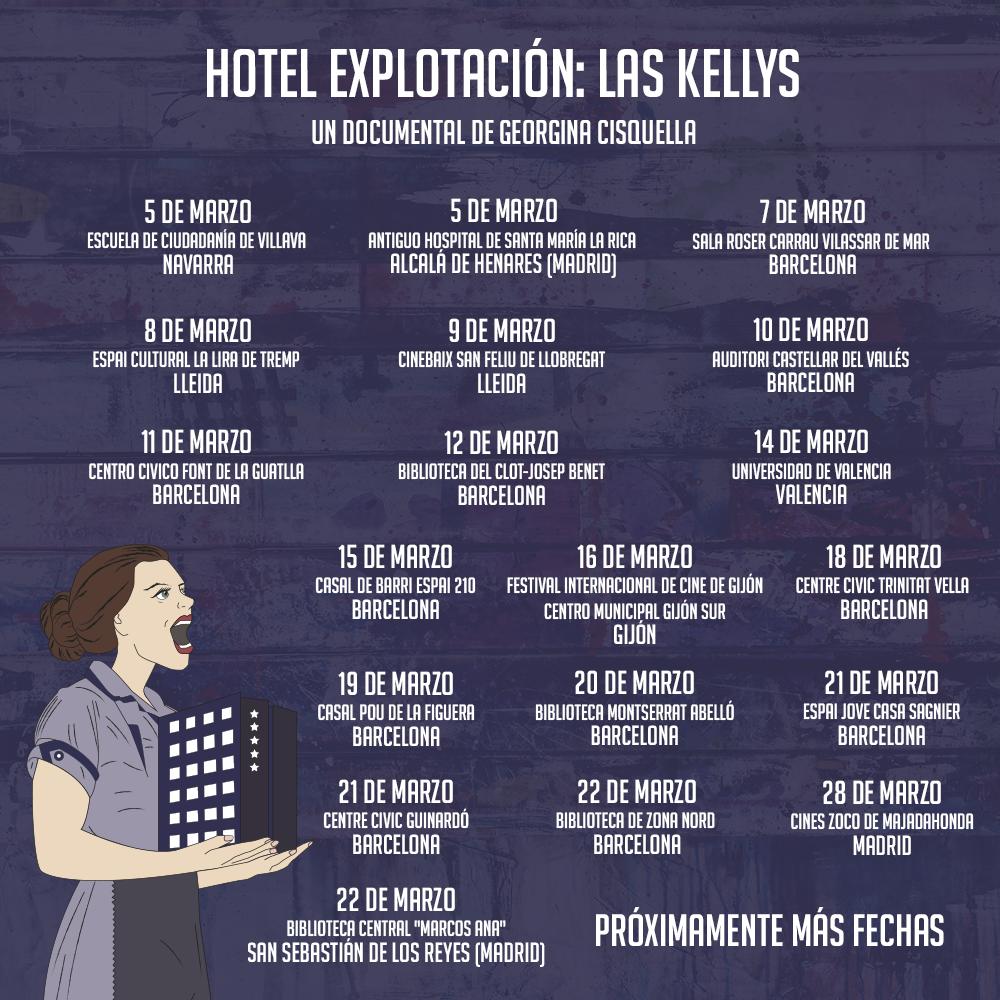 Hotel Explotación, «Hotel Explotación: las Kellys» se prepara para un marzo muy reivindicativo