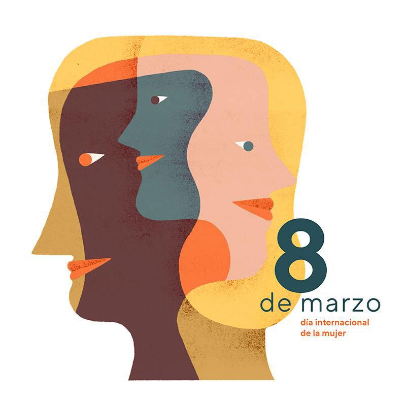 Ilustración de Mar Hernández para el Día Internacional de la Mujer