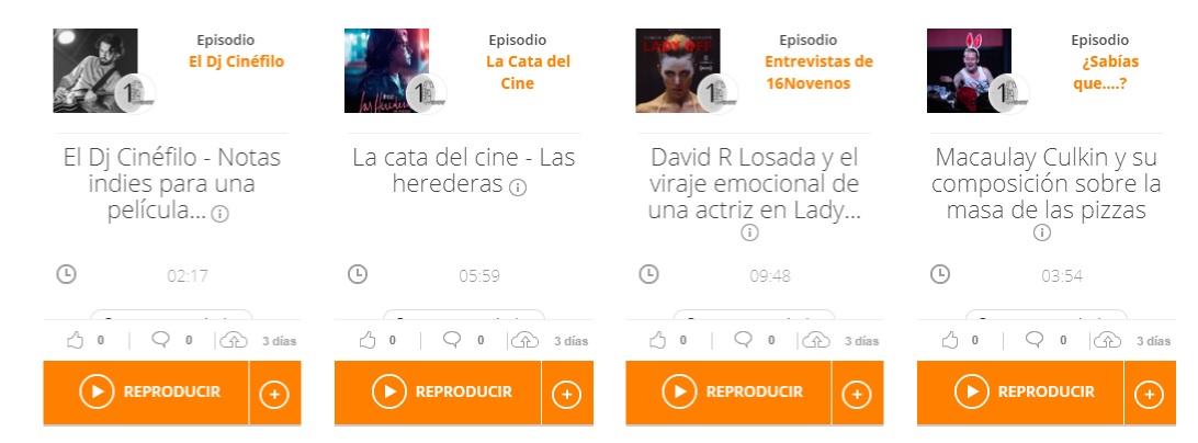 cultura, Más de Cultura inaugura voz cinematográfica con el programa de radio 16 novenos