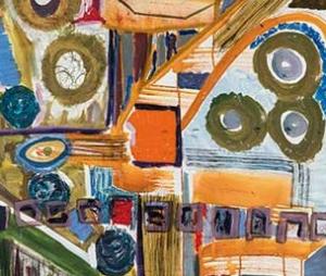 Detalle de una de las pinturas de Carlinhos Brown