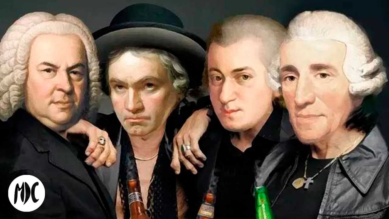 La música clásica, La música clásica reconvertida en himnos de rock