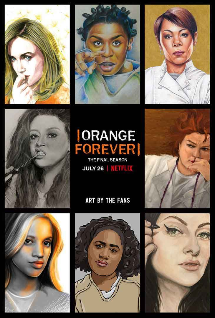 Cartel de Orange Forever, la última temporada de Orange is the New Black
