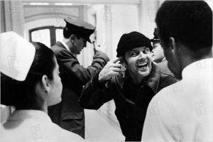 Jack Nicholson en Alguien voló sobre el nido del cuco