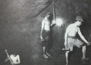Mineros de La Unión. Fotografía de Memorias de Cartagena.