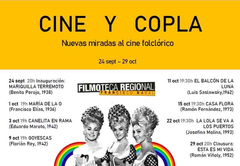 cine folclórico, Ciclo de cine y copla. Nuevas miradas al cine folclórico en la Filmoteca Regional de Murcia