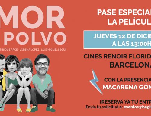 Te invitamos al pase especial de la comedia AMOR EN POLVO en Barcelona