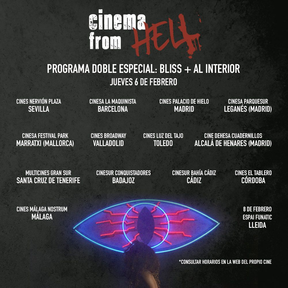 Cinema from hell, CINEMA FROM HELL, una muestra de cine itinerante con las mejores películas de terror