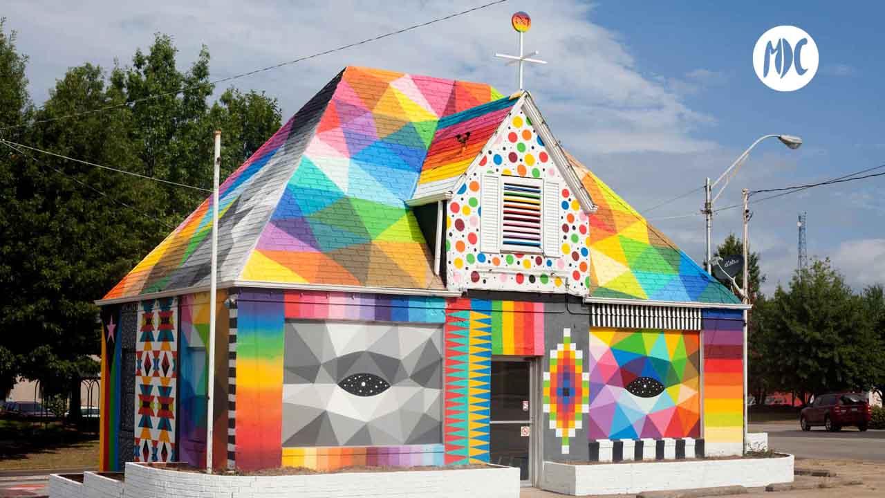 Iglesia universal en Arkansas (EEUU), diseño de Okuda San Miguel mdc