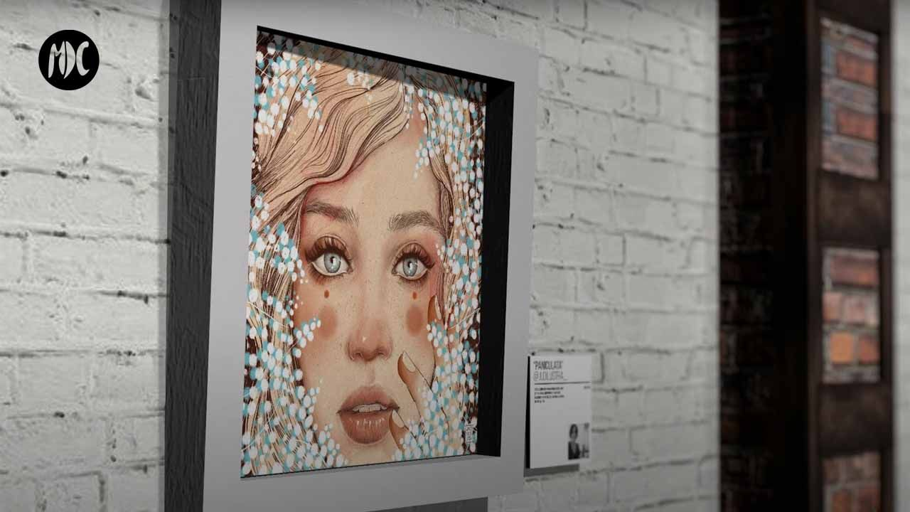 Pandemic Showroom exposicion 3D de Javier Codina