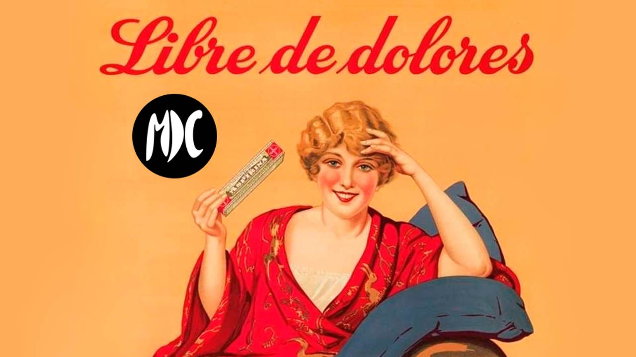 Portada aspirina cartel publicitario siglo XX