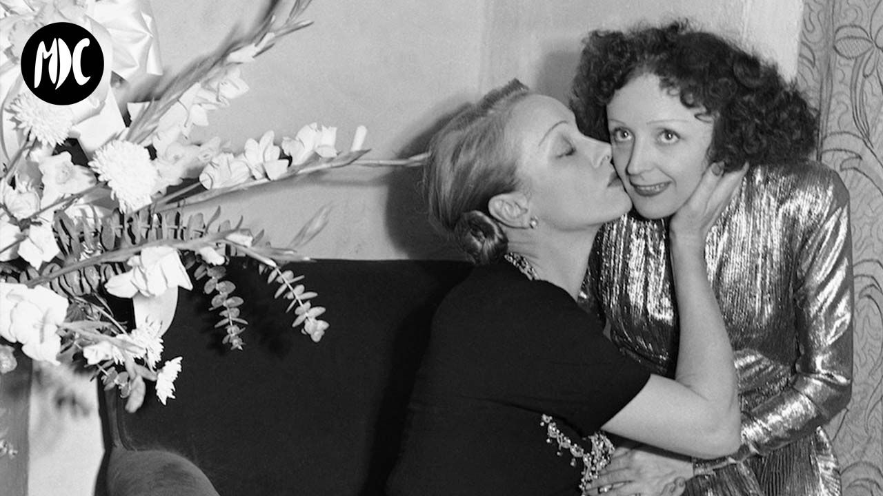 Marlene Dietrich con Edith Piaf Hollywood