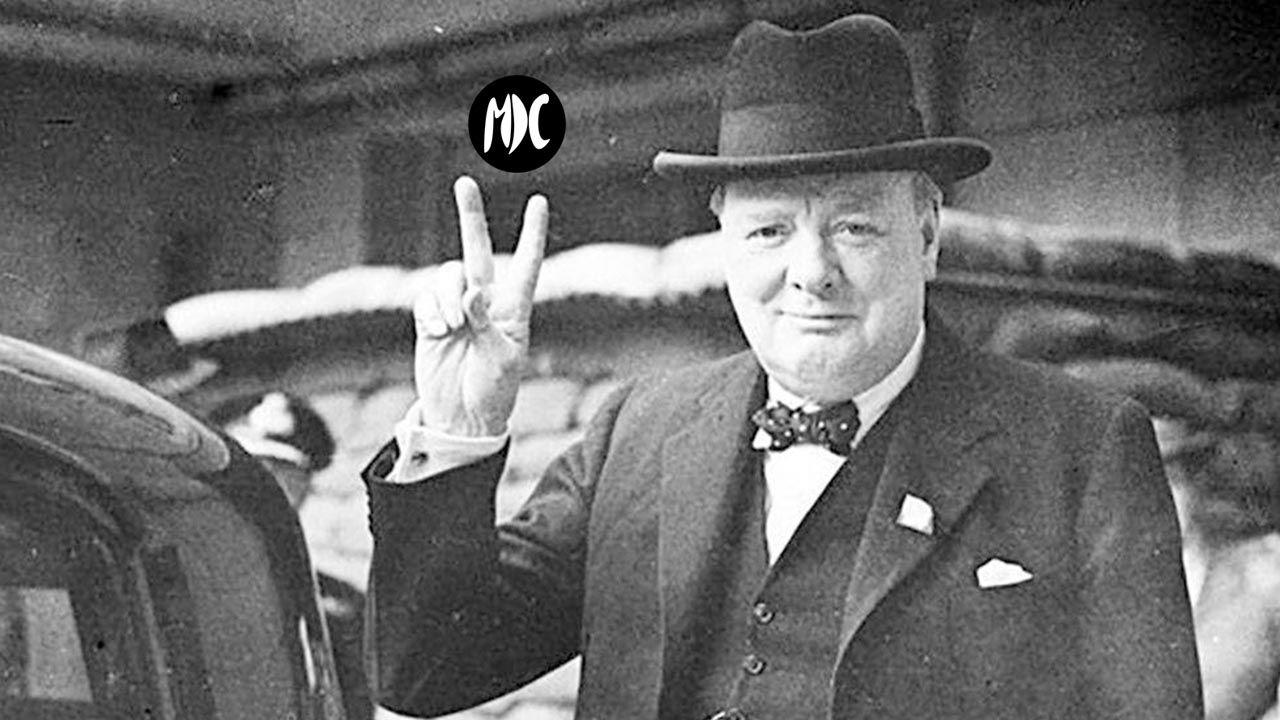 Foto gestos políticos V victoria de Churchill