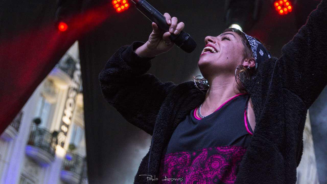 Tesa en un concierto Fotografía Pablo Asensi