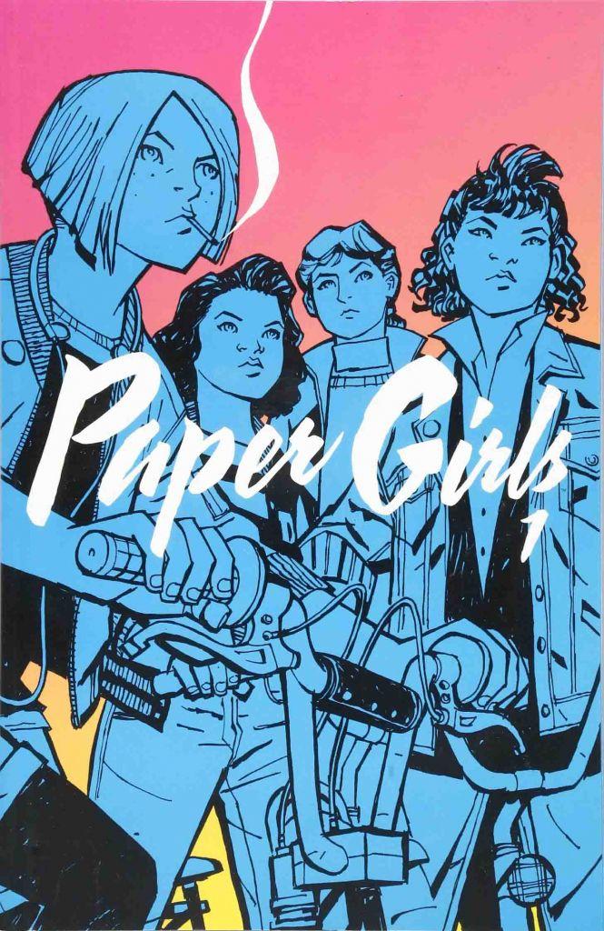 Portada del cómic Paper Girls vol.1 Riot grrrl