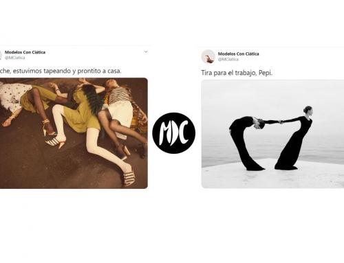 Modelos con ciática, la cuenta que parodia las poses de las modelos