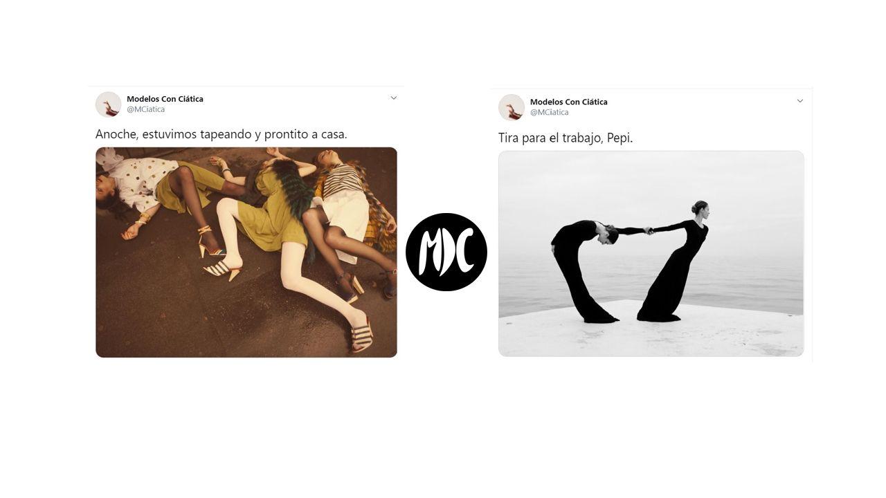 modelos, Modelos con ciática, la cuenta que parodia las poses de las modelos