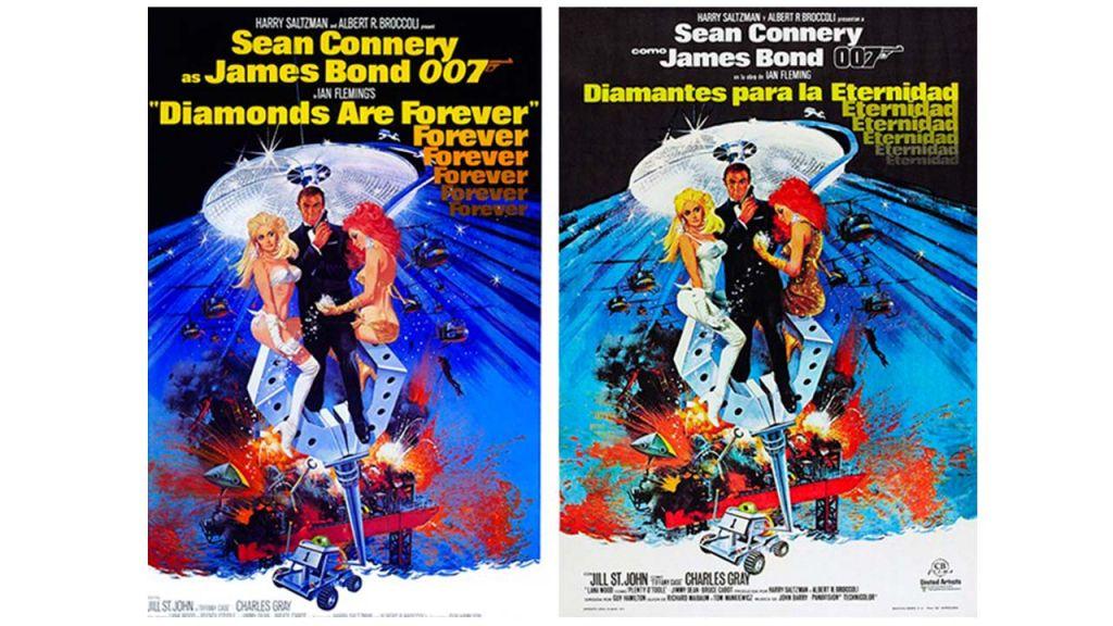Carteles censura cine James Bond